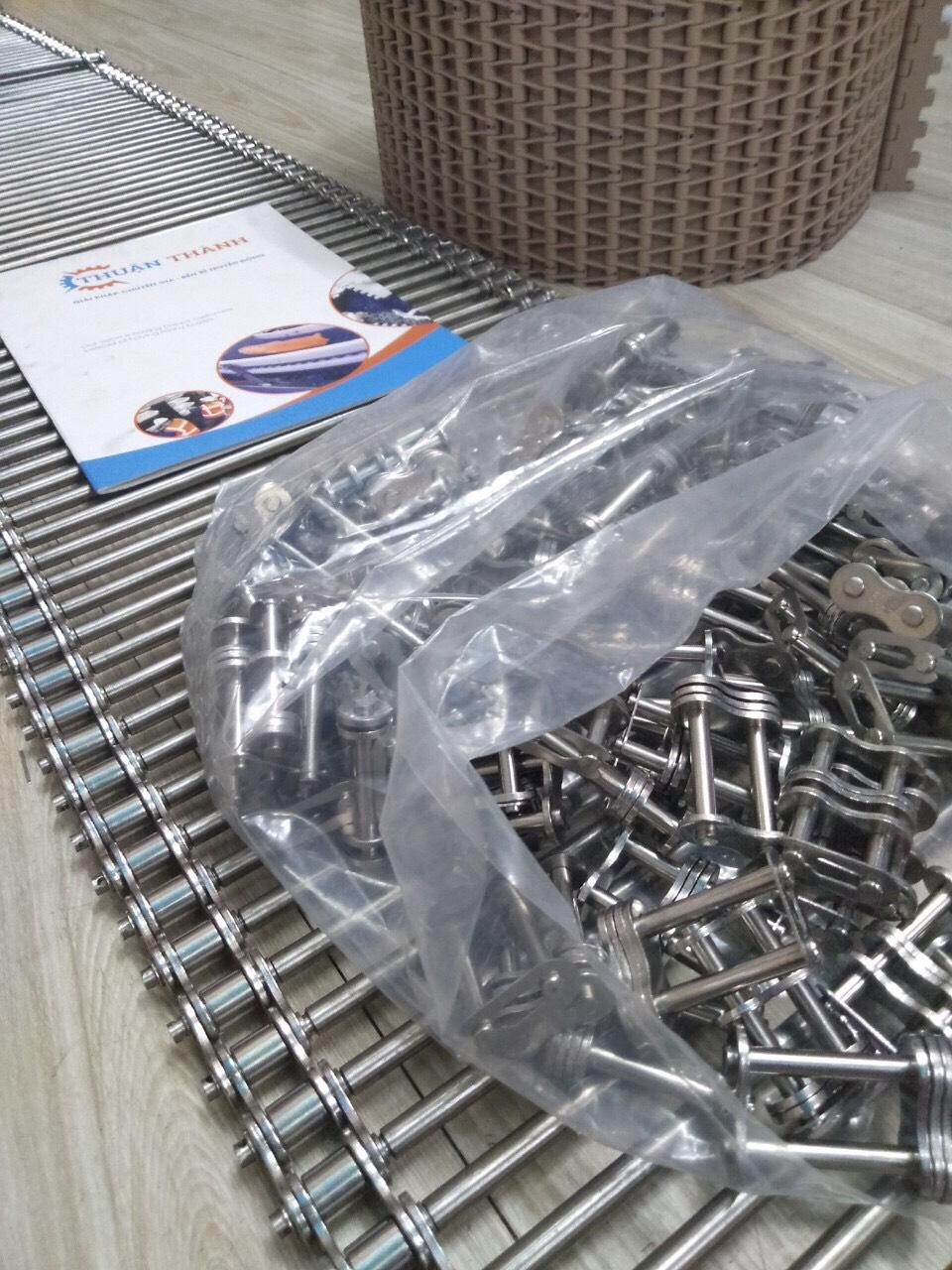 Băng tải đũa cho sên xích Inox 304- SS 40 -SS 50 _SS 60